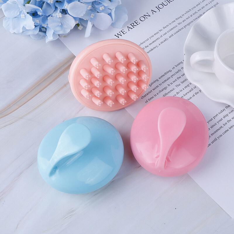 Lgj Bằng Tay Tròn Đầu Tóc Giặt Massage Silicone Lược Massage Da Đầu Bàn Chải nhập khẩu
