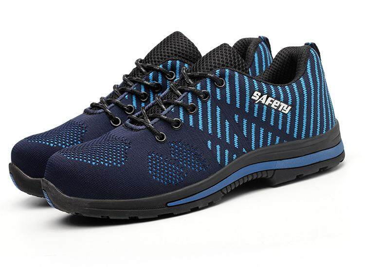4fd114b795a New Deodorant and Breathable Flying Woven Mesh Safety Shoes Steel Toe Cap  for Anti-piercing, Anti-slip Wear