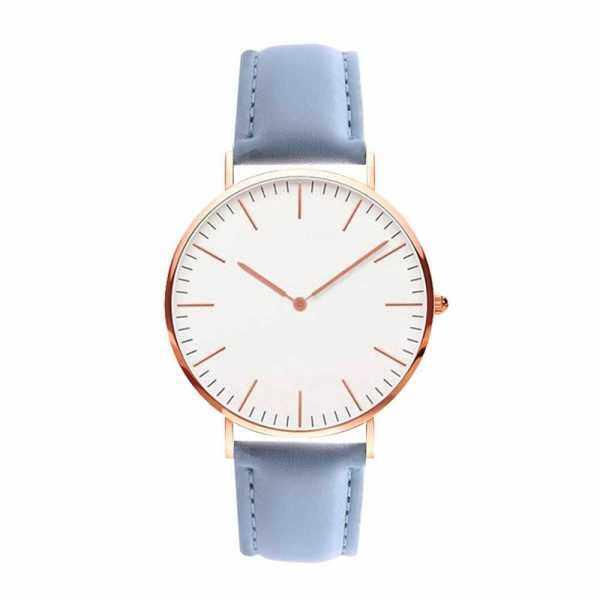 Men Women Fashion Simple Ultra-Thin Watch (Blue) Malaysia