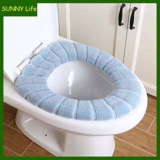 Sunny Life Winter Bathroom Thickened Washable Warmer Toilet Seat Cushion Soft Pad Washable Comfortable Color Toilet Seat Cover Mat Pad Cushion Bathroom Accessories Home Decor thumbnail