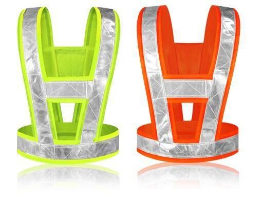 Safety vest v-shape high reflective visibility outdoors