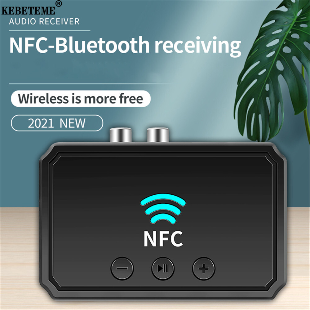 Bộ Thu Âm Thanh Bluetooth 5.0 KEBETEME BT200, Giắc Cắm AUX RCA Hifi NFC 3.5Mm, Bộ Chuyển Đổi Không Dây...