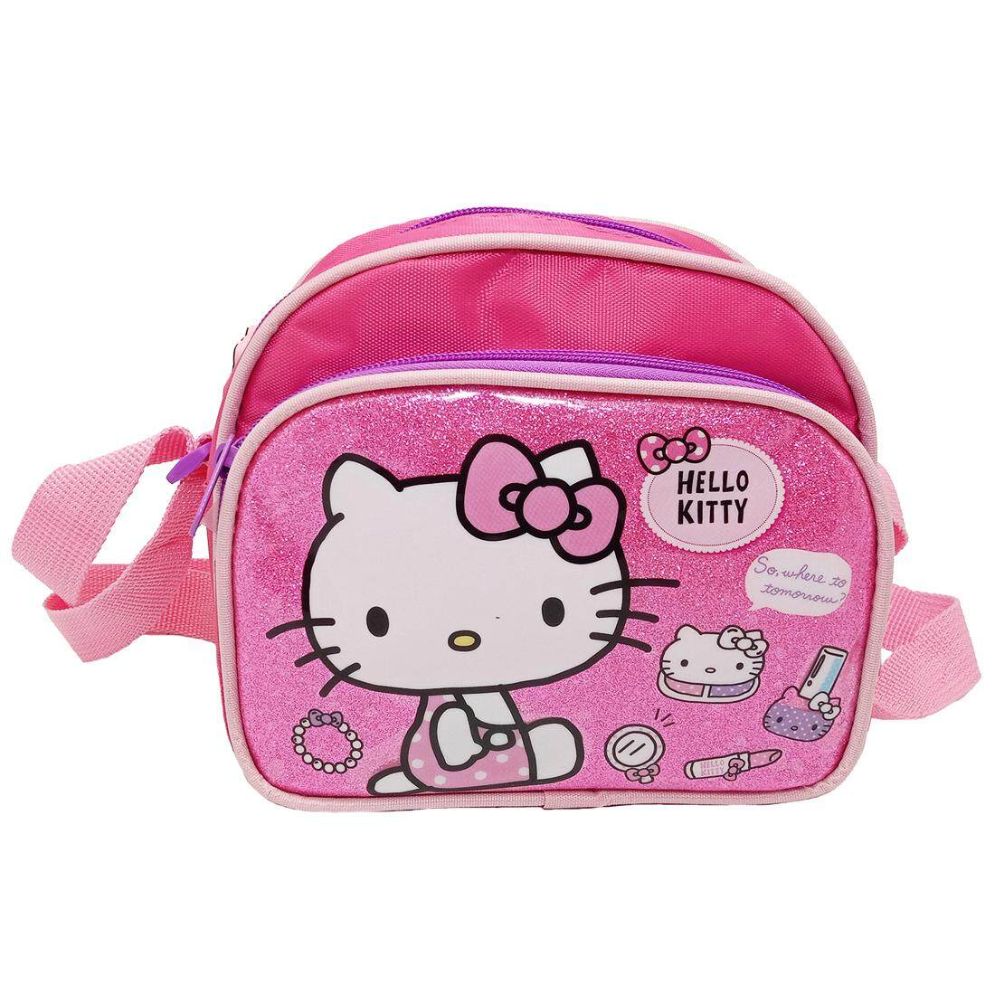 6f04a6436bb2 HELLO KITTY SHINNING PINK SLING BAG