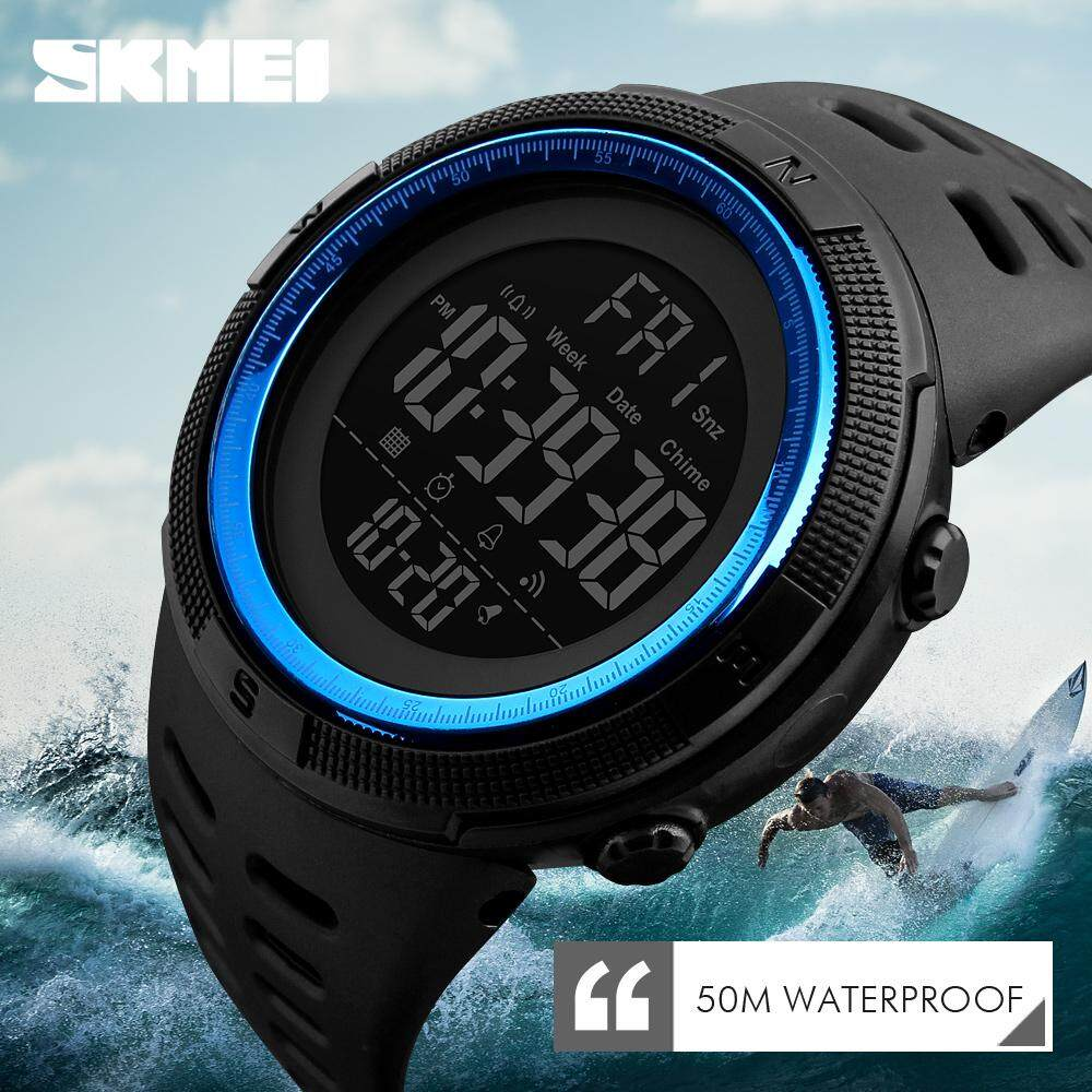 SKMEI Brand Men Sports Watches Fashion Chronos Countdown Mens Waterproof LED Digital Watch Man Military Clock 1251 Malaysia