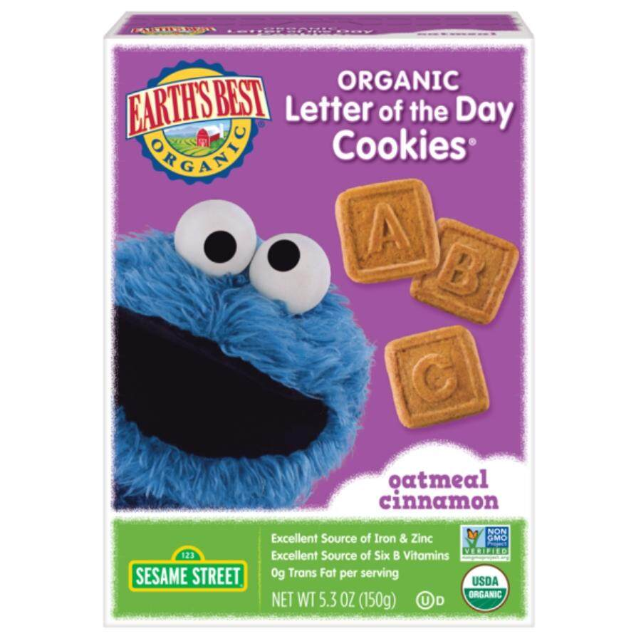 Earths Best Letter Of The Day Cookies Oatmeal Cinnamon By Global Impiana Gemilang Sdn Bhd.