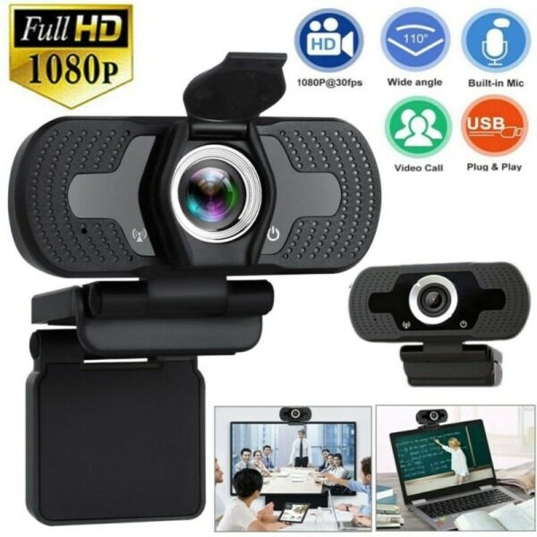 H3cmall 480P/720P/1080P Full HD USB Webcam For PC Desktop Laptop Web Camera With Microphone / FHD