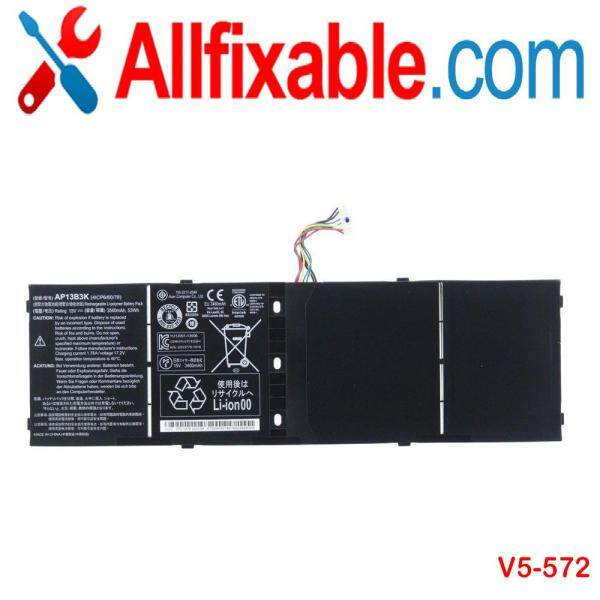 Acer Aspire V7-481  V7-581  V7-582  V7-582PG  V5-572  Series  AP13B3K  15V  4 Cells  Notebook / Laptop Compatible Battery Malaysia