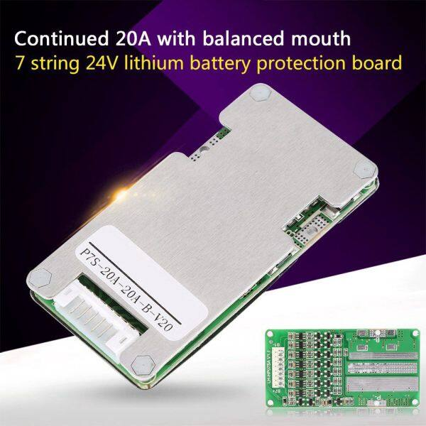Bảng mạch cân bằng bảo vệ pin 24V 20A 7S Lithium Li-ion 18650 BMS Bingbtl - INTL