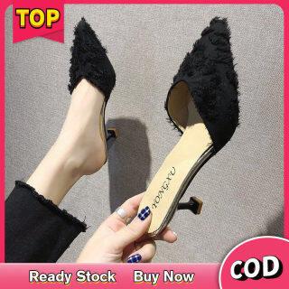 Dép đế xuồng mules cho nữ, Giày cao gót, giày sục, Giày Sục, giày đế xuồng kiểu Hàn Quốc, Giày cao gót mũi nhọn, Giày đế xuồng thumbnail