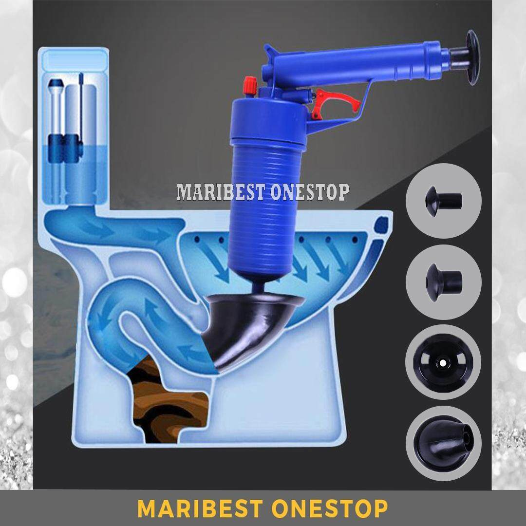 Toilet Plunger Air Drain Blaster Pressure Pump Cleaner For Bathroom Kitchen By Maribest Onestop.