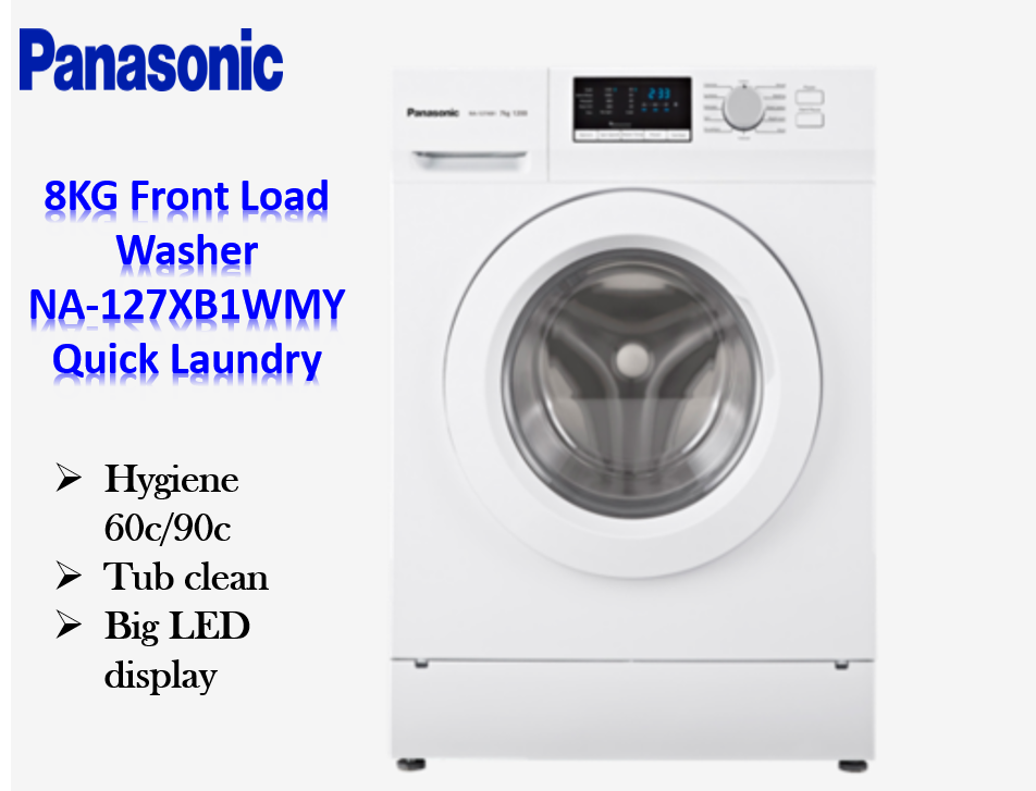 [FREE INSTALLATION] 7KG Front Load Washer NA-127XB1WMY - Quick Laundry/Mesin Basuh/Washine Machine
