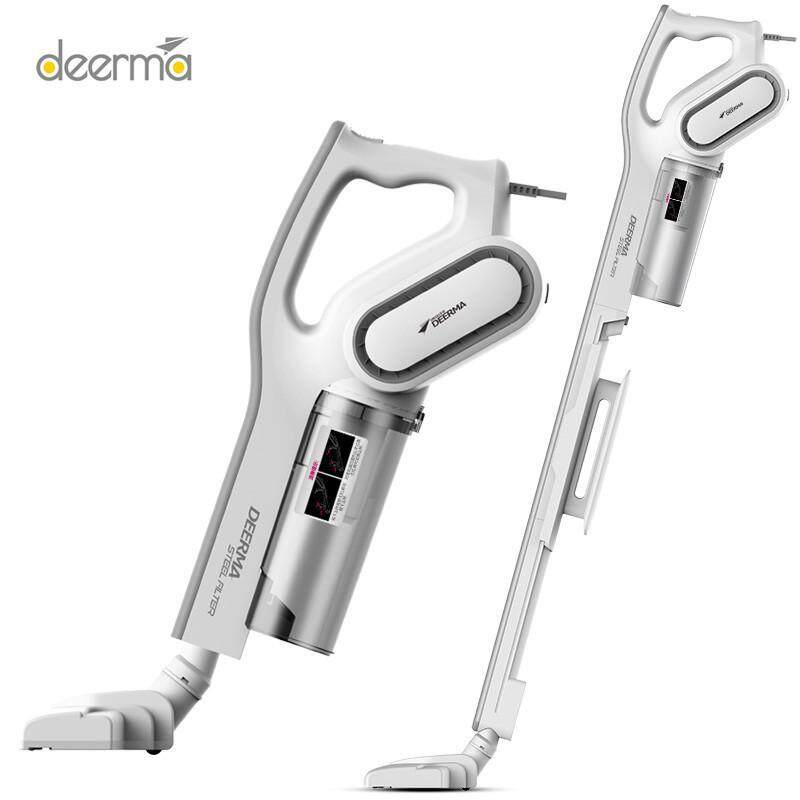 Deerma DX700 cordless Household Vacuum Cleaner 2 in 1 Portable Handheld Strong Suction Vacuum Cleaner Side Spin Vacuum Super Low Noice Singapore