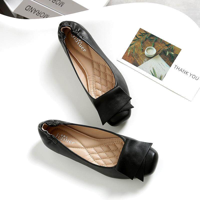 30c06c862f79 Fashion Leather Flat Shoes Round Toe Woman Loafers Women Flats Woman Young Shoes  Flats Winter Shoes