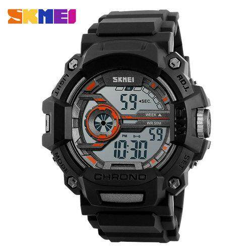 SKMEI Outdoor Sports Digital Watches For Kids Multifunction LED Fashion Silicone Strap Wristwatches 50M Waterproof Auto Date Week Display Complete Calendar Children Watch 1233 Malaysia