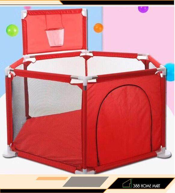 【READY STOCK】150CM Stainless Steel Baby Portable Hexagon Baby Safety Play Fence Playyard Playpen
