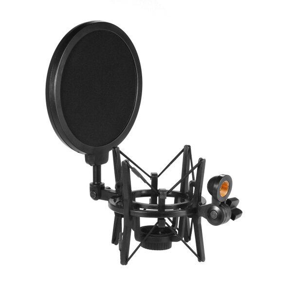 Phổ Nhựa Condenser Microphone Mic Shock Núi Chủ Bracket Chống Rung Với Pop Lọc Cho On-Line Phát Sóng Phòng Thu Âm Nhạc Ghi Âm