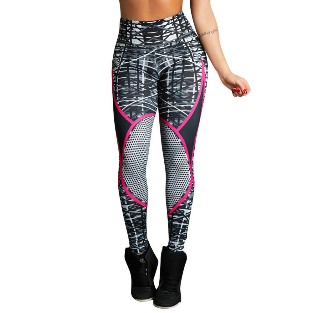 9dbd60f9e7cf New Style Women s Print Workout Leggings Fitness Sports Gym Running Yoga  Athletic Pants