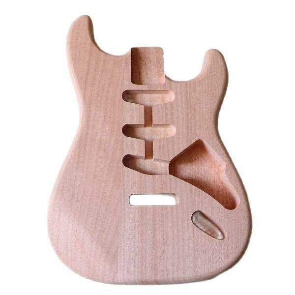 New arrival ST guitar body mahogany wood electric guitar body natural color strat body ST guitar barrel body for electric guitar Malaysia