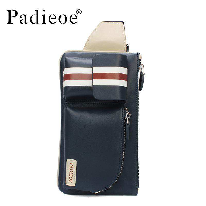 c8c99fb26f Padieoe Men s Genuine Leather Chest Bags Casual 2019 New Fashion Waist Pack  Chest Bags Men fashion