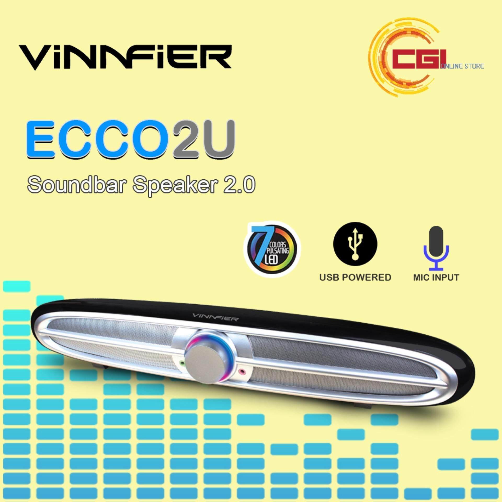 Vinnfier ECCO2U USB Soundbar Speaker 2.0 Malaysia