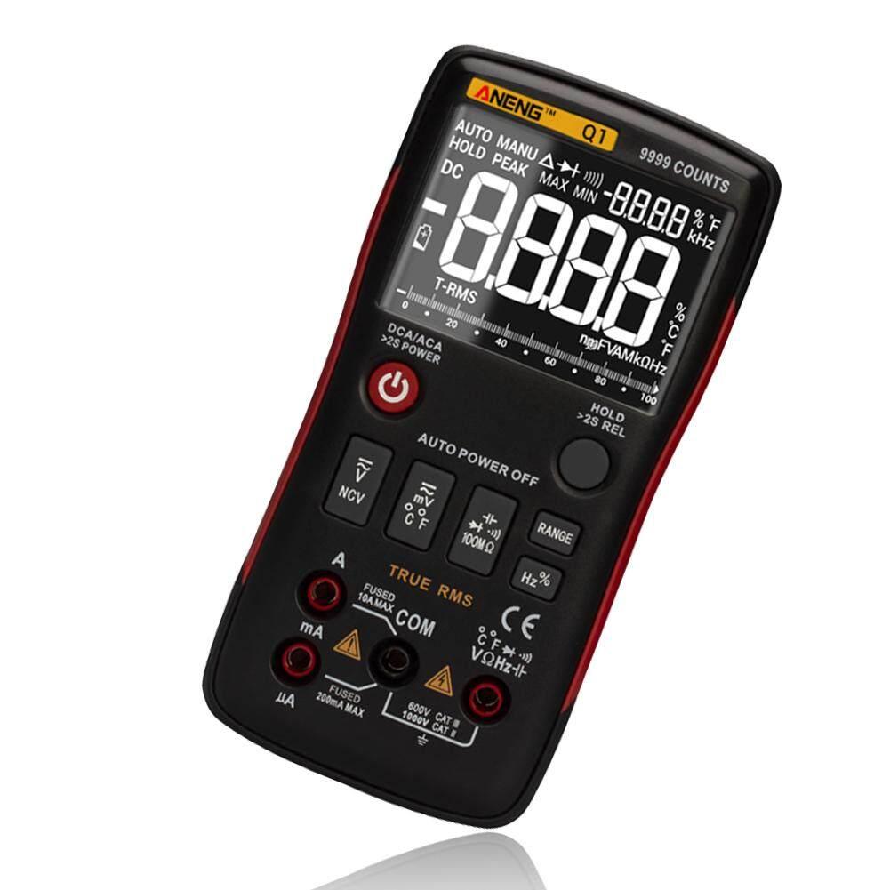 Aneng Q1 Màn Hình LCD Kỹ Thuật Số Đồng Hồ Đo Vạn Năng True RMS Tự Động Phạm Vi AC/DC Ohm Tester