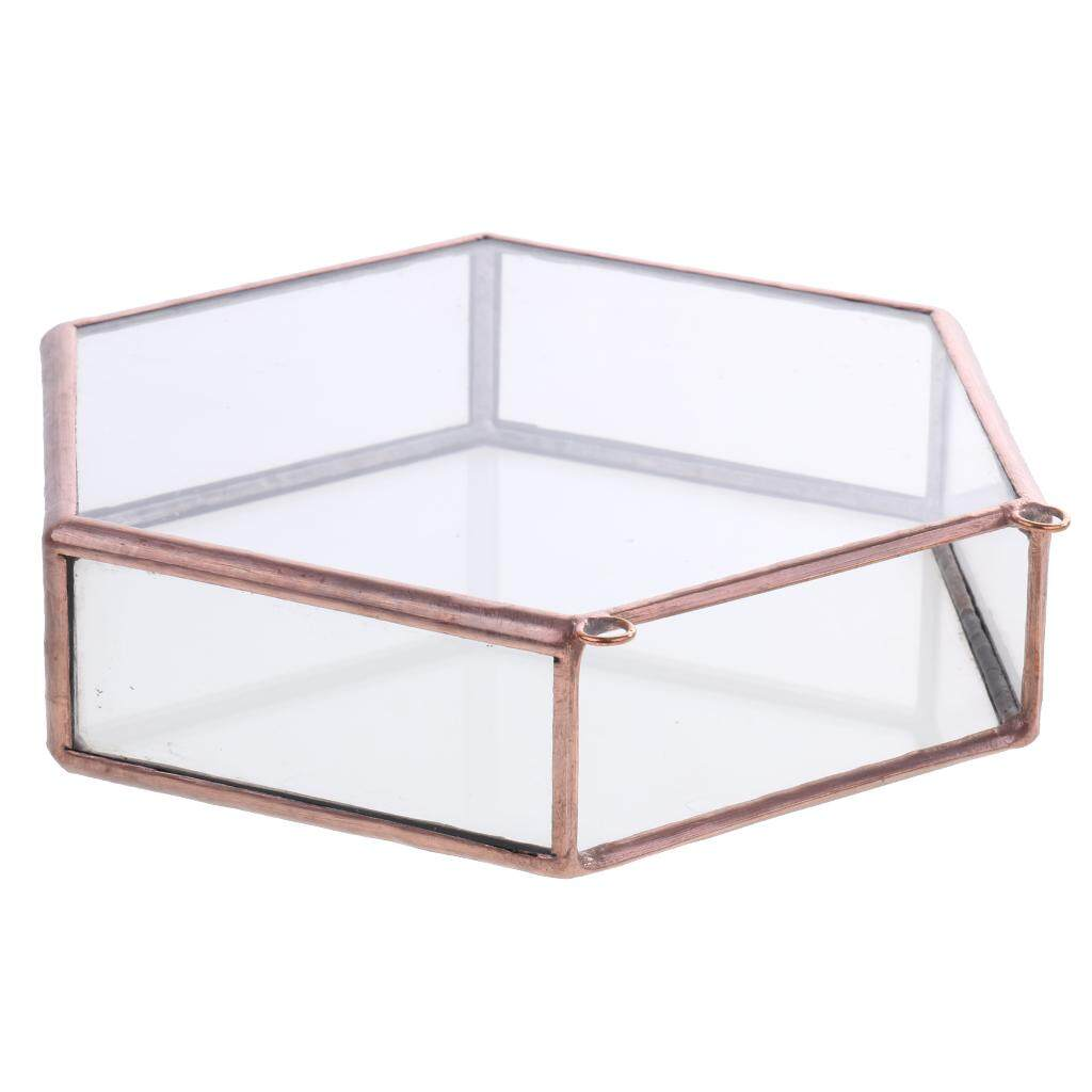 Perfeclan Vintage Hexagon Glass Hanging Geometric Terrarium Box Pot Home Garden Decor