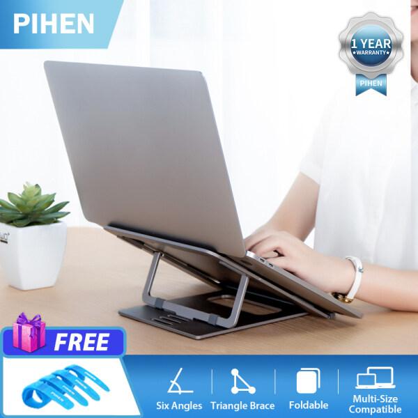 Bảng giá Giá Đỡ Laptop PIHEN H12 6 Cấp Độ Bảo Vệ Tay Áo Bằng Silicon Gấp Được Bằng Hợp Kim Nhôm Màu Xám Phong Vũ