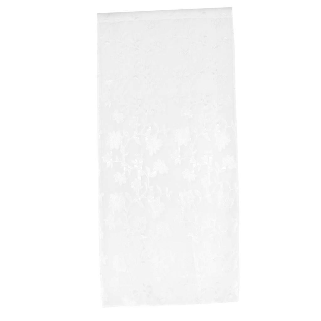 MagiDeal Floral Printed Voile Curtain Window Screening Tulle Net Drape 1x2 Meters