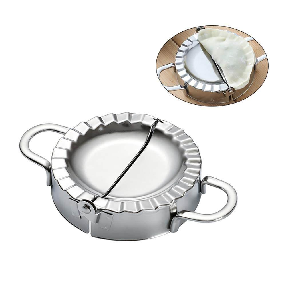 Futureten Dumpling Maker, Pastry Tools Stainless Steel Empanada Press Mold Wrapper Dough Cutter Pierogi Ravioli