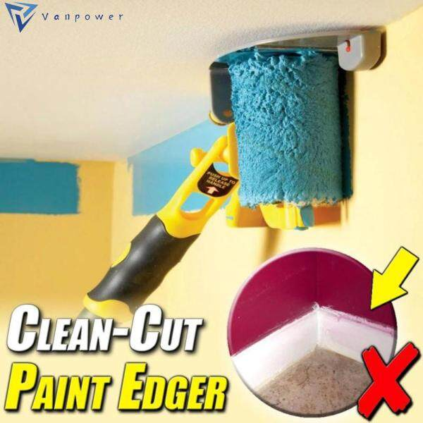 Clean-Cut Paint Edger Roller Brush Painting Edging Tools for Wall Ceiling Treatment Painting Tools