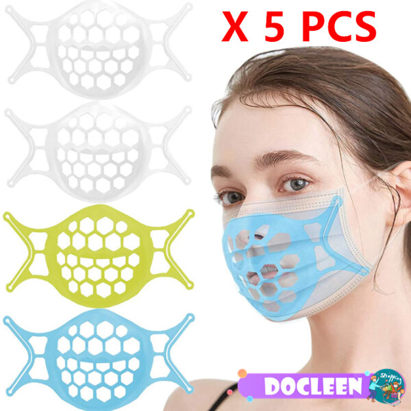 [Ready To Ship][5 PCS] Docleen 3D Washable Soft Face Mask Bracket Reusable Inner Support Frame  Mask Stand Face Mask Holder