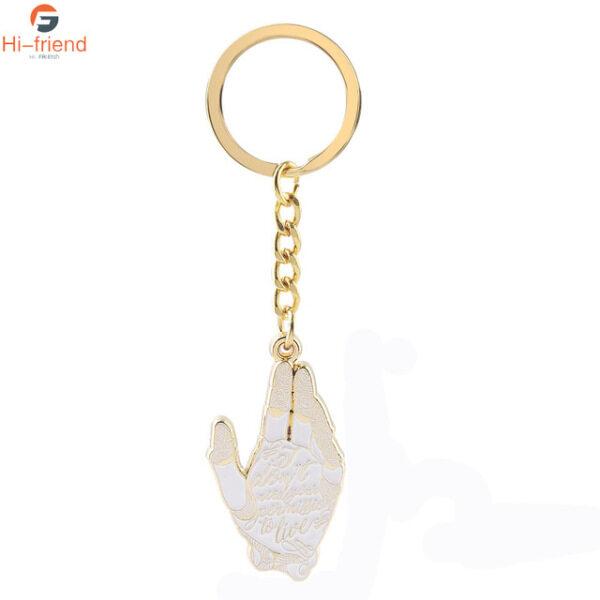Mua Alita: Trận Thiên Thần Keychain, Logo Chữ Cái Tay Vàng Alita, Mặt Dây Chuyền Kim Loại Keyring Túi Nam Nữ Ô Tô Phụ Kiện