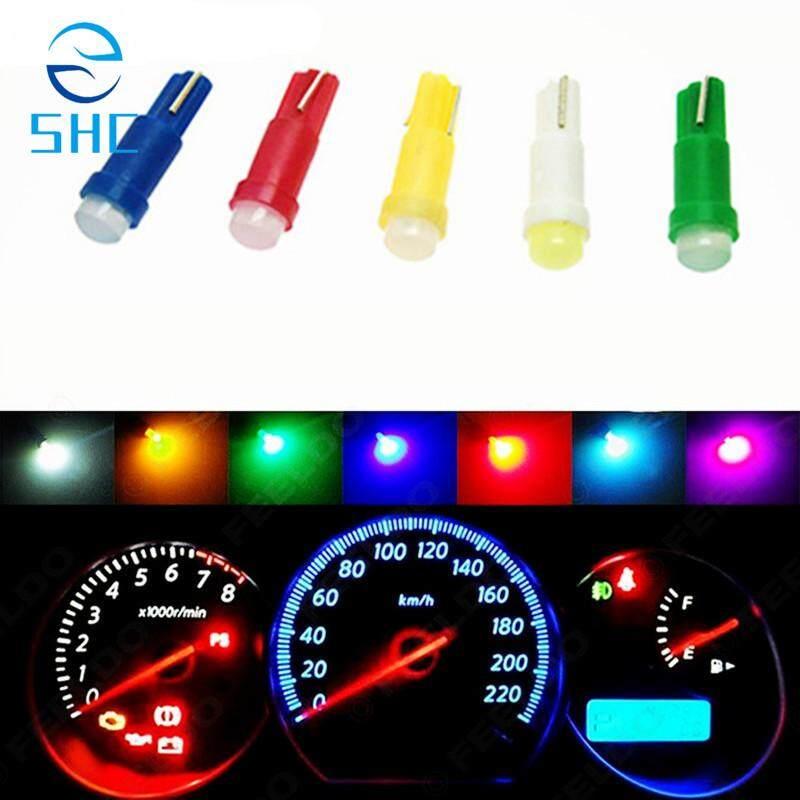 SHC 10 PC T5 LED Interior Mobil Meteran Dasbor Cahaya Alat Instrumen Pintu Mobil Baji Gauge Bohlam Lampu Belajar 12 V COB SMD (Merah Muda)