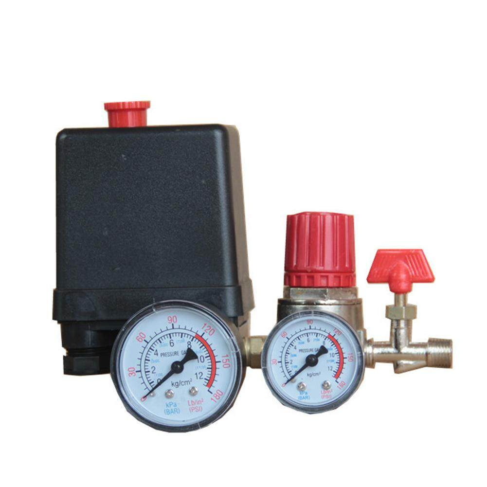 90-120PSI With Gauges Exhaust Regulator Heavy Duty Air Compressor Pump Universal Pressure Control Switch