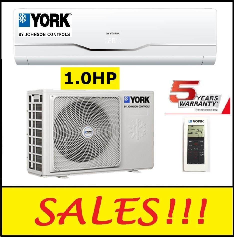 YORK YWM3F10DAS-W / YSL3F10AAS 1.0HP AIR CONDITIONER (R410A) AIRCOND AIR COND (YWM3F10DAS) image on snachetto.com