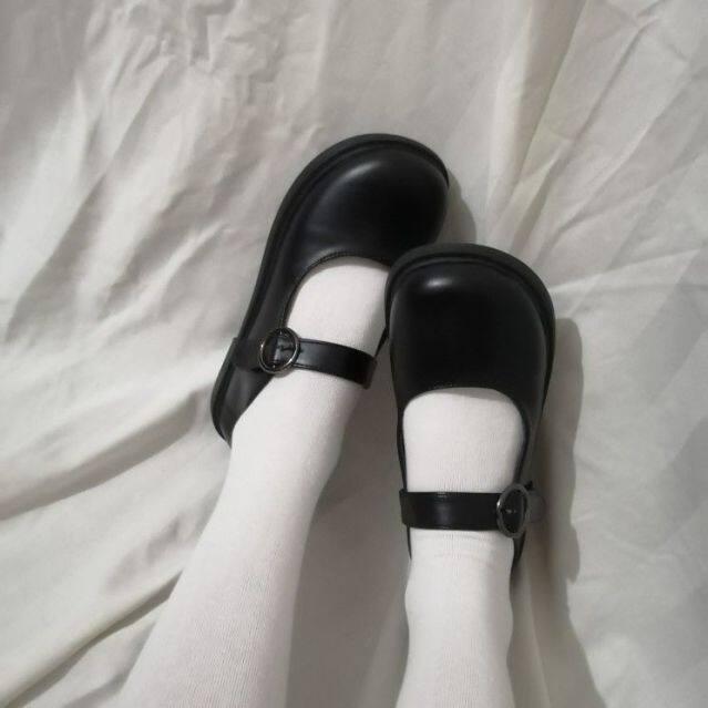 Đồng Phục Lolita Mới Có Một Đầu Lớn, Một Cái Đầu Tròn, Một Em Gái Mềm Mại, Giày Da Nhỏ Jk, Một Sinh Viên Đáng Yêu, Giày Búp Bê Mary Jane. giá rẻ