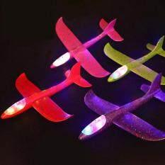 Thổi 48 Cm Đèn Led-Up Đồ Chơi Máy Bay Trẻ Em Tự Làm Ném Tay Bay Máy Bay Bọt