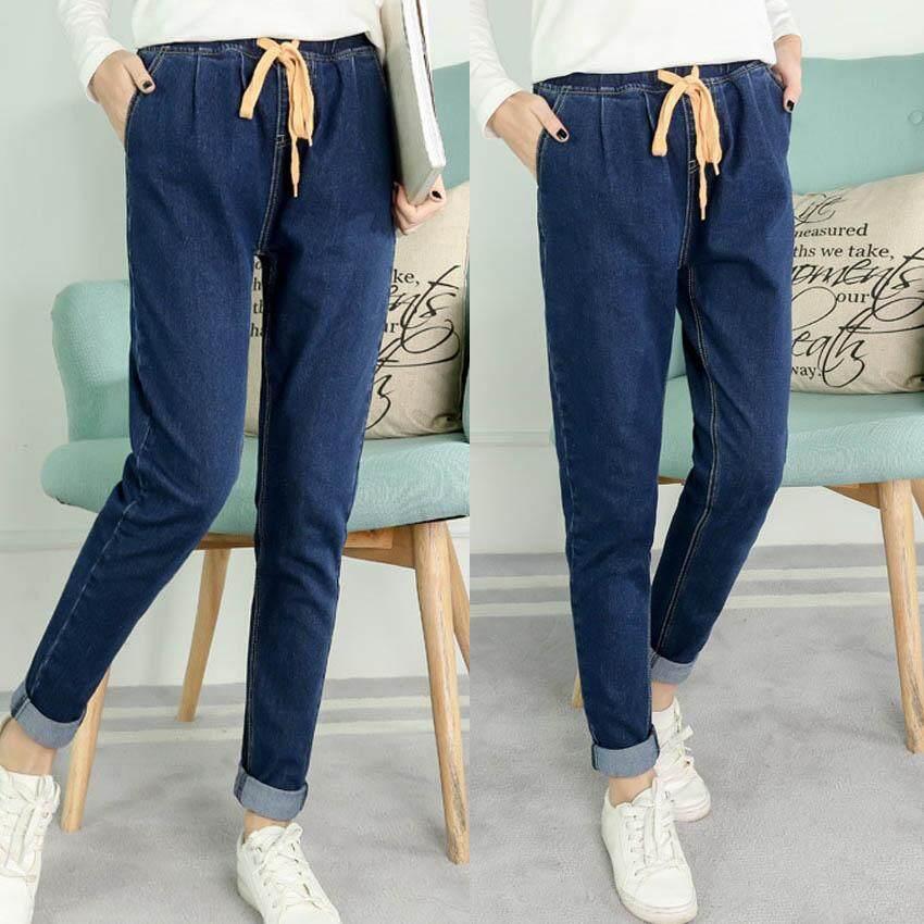 96967358e4 Plus Size Women Casual Slim Denim Jeans Long Ankle Pants