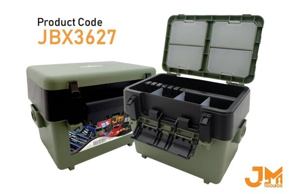 JM Tool Box JBX3627 -  Multipurpose Plastic Tool Box PP