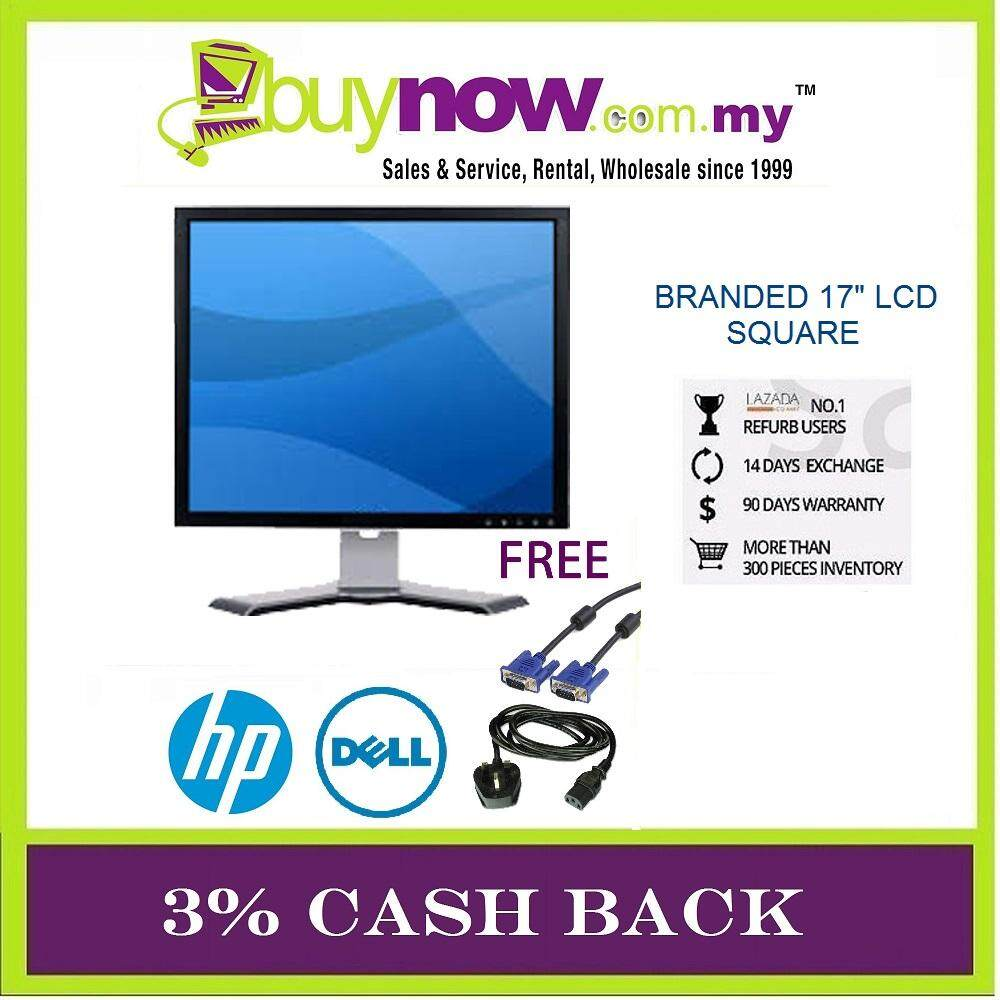 REFURBISHED BRANDED LCD MONITOR 17 INCH SQUARE / FREE VGA CABLE / 3 % CASH BACK Malaysia