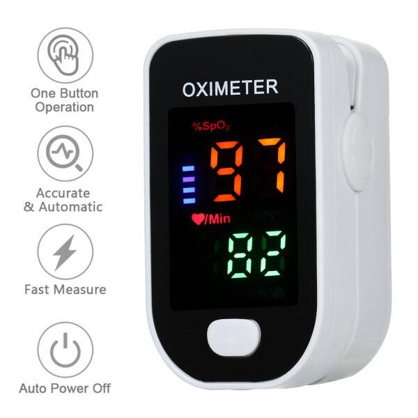 Multi-function Finger Pulse O-ximeter Blood Oxygen Sensor SpO2 Monitor Portable Finger Pulse O-ximeter for Home Sports Travel