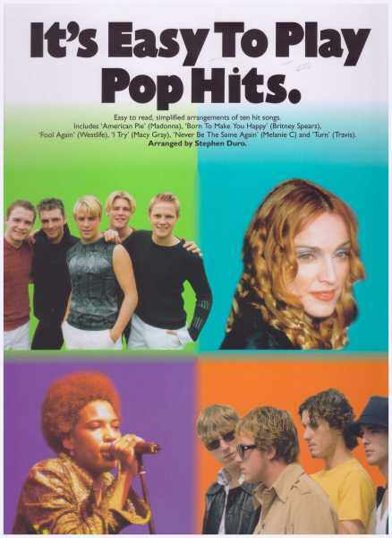Its Easy To Play Pop Hits / Pop Song Book / Piano Book / Vocal Book / Voice Book Malaysia