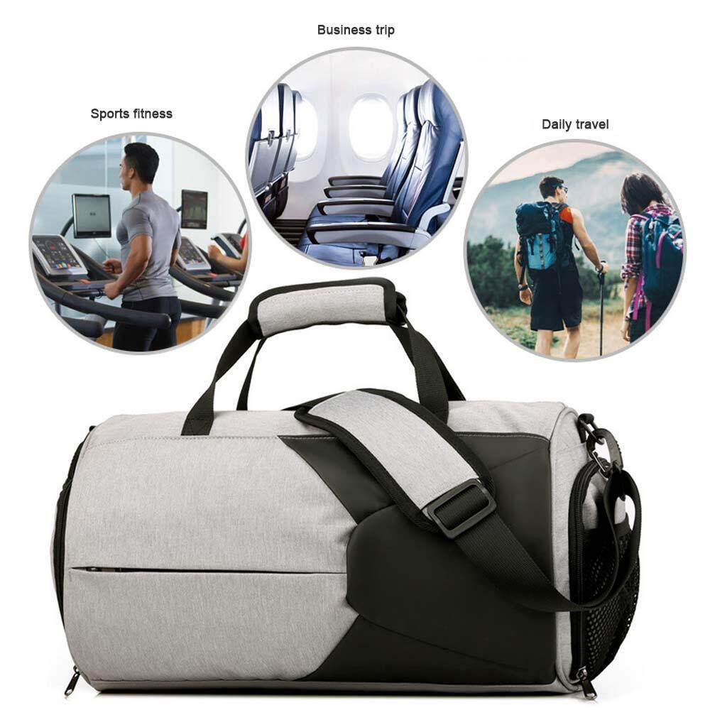 Leegoal Portable Bahu Kembali Tas Senam Tahan Air Basket Kebugaran Olahraga Luar Ruangan Tas dengan Sepatu