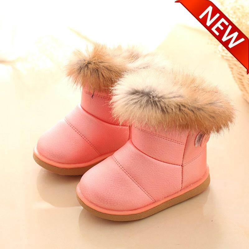 Giá bán NÓN LƯỠI TRAI LS Mới phiên bản Hàn Quốc của đế mềm bé gái Làm dày dày bông ấm áp chống trượt trẻ em cotton shoes【READY CỔ-Cao Quality】