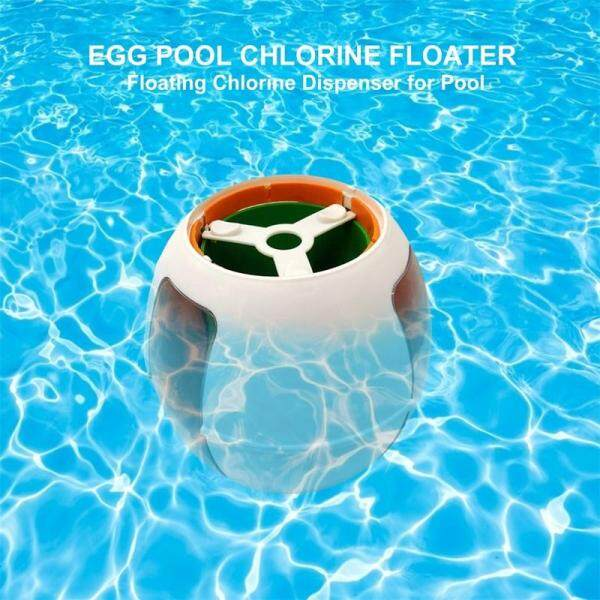 Pool Floating Chemical Dispens Pool Floating Chemical Chlorine Dispenser Floater Water Purification Disinfection Cleaning Dosing Tool Egg-shaped Disinfection Tool
