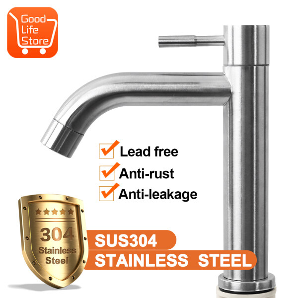【Quick delivery by local seller】Faucet washbasin basin washbasin washbasin washbasin washbasin faucet bathroom single cold stainless steel faucet household