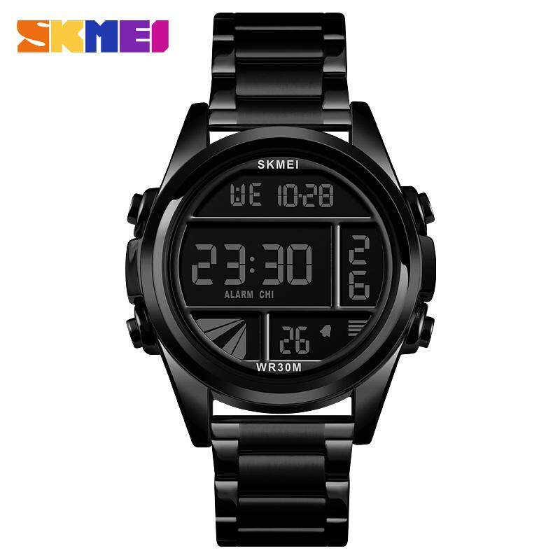SKMEI New Men Fashion Watches Digital Waterproof Watch Stopwatch Stainless Steel Sports Wristwatches Male Clock 1448 Malaysia