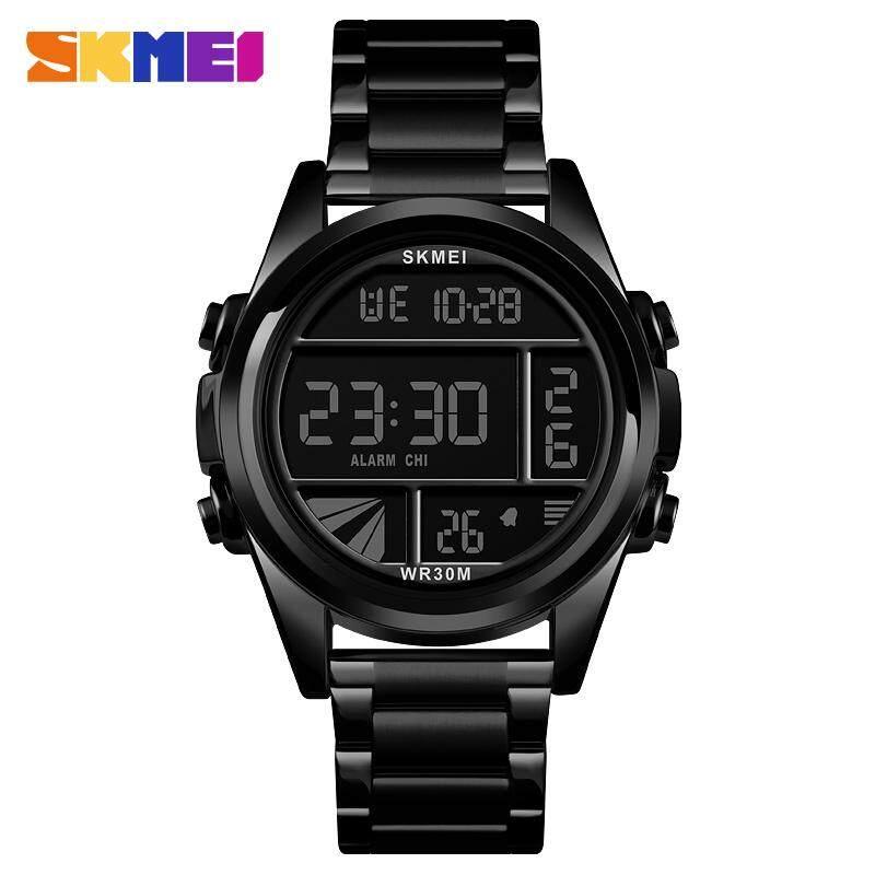 SKMEI New Men Fashion Watches Digital Waterproof Watch Stopwatch Stainless Steel Sports Wristwatches Male Clock 1448 Malaysia