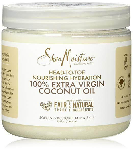 [ iiMONO ] Shea Moisture 100% Extra Virgin Coconut Oil, 15oz / 444ml