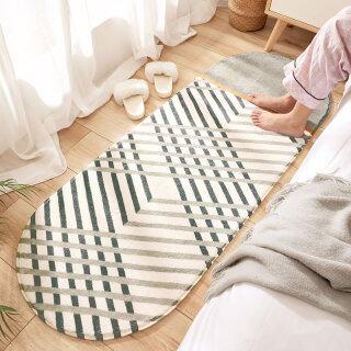 Geometric Print Home Bedroom Bedside Carpet Floor Mat - Soft Non-slip Table Blanket Oval Sofa Rug Home Decor 40 120CM thumbnail